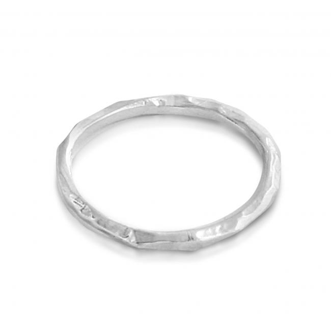 925 sterling silver ring Hammered Ring