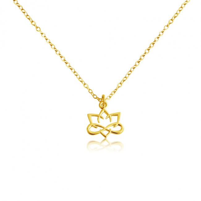 Gold plated necklace Small Lotus Flower