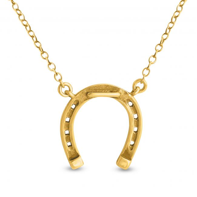 Gold plated necklace Horseshoe