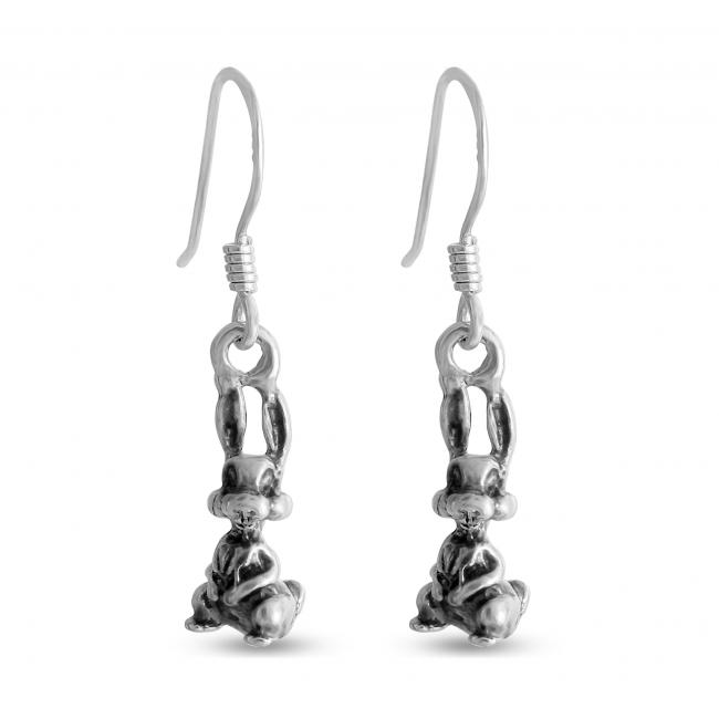 925 sterling silver earrings Bunny Rabbit