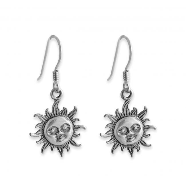 925 sterling silver earrings Smiling Sun Flare