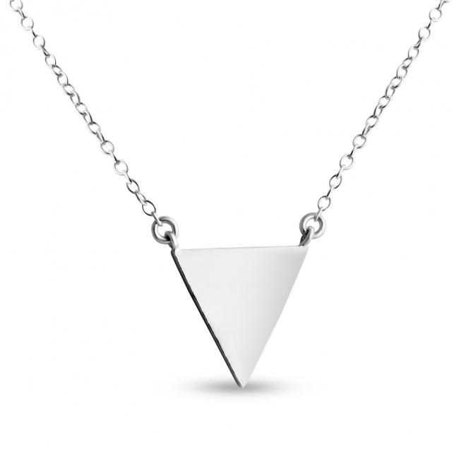 925 sterling silver necklace Delta Solid Triangle