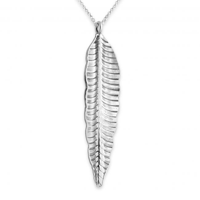 925 sterling silver necklace Feather