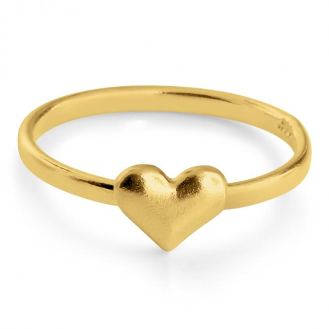 Gold plated ring Heart