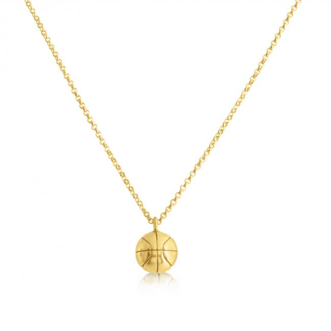 Gold plated necklace Basketball Team Sport