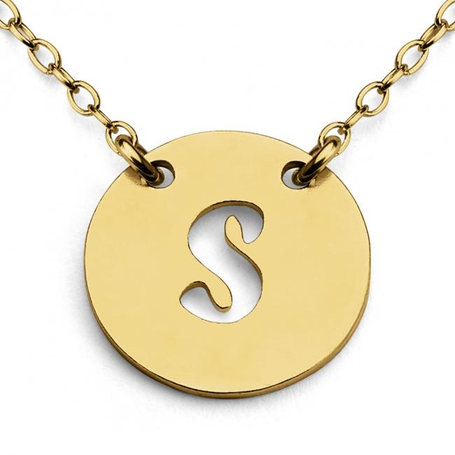 Gold plated necklace S Open Letter