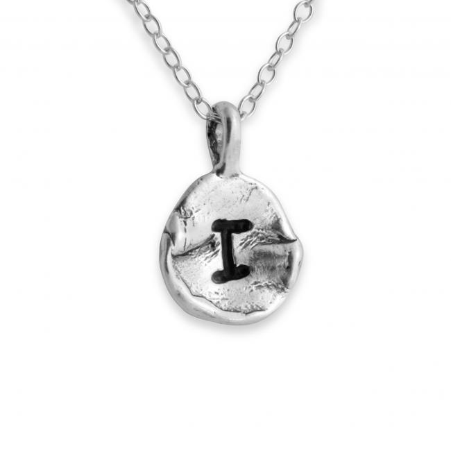 925 sterling silver necklace Letter I Passion Initial