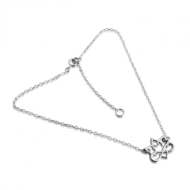 925 sterling silver anklet Small Lotus Flower