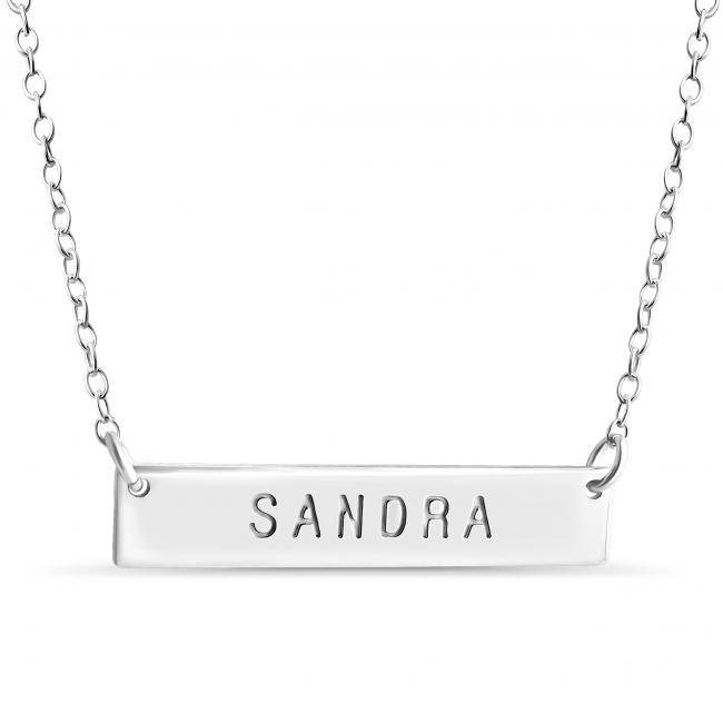 925 sterling silver necklace Name Bar Sandra