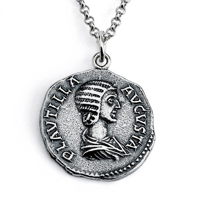 925 sterling silver necklace Replica Plautilla Roman Imperial Ancient COIN