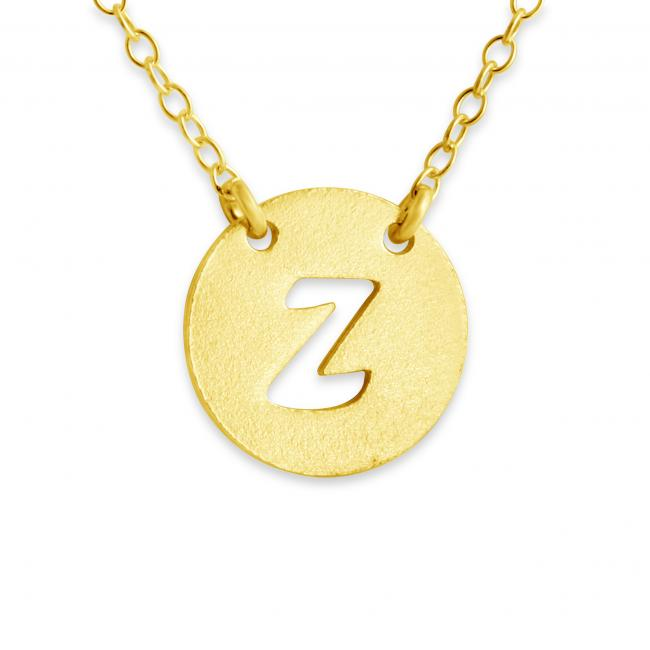 Gold plated necklace Z Open Letter
