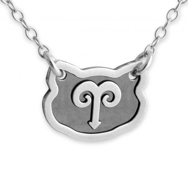 925 sterling silver necklace Aries Zodiac Sign