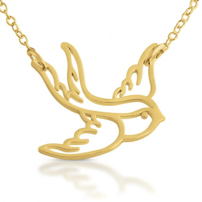 Gold plated necklace Big Swallow