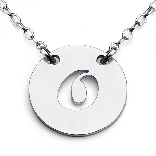 925 sterling silver necklace O Open Letter