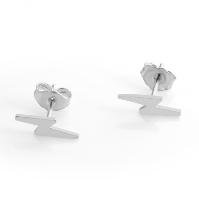 925 sterling silver earrings Thunder Bolt