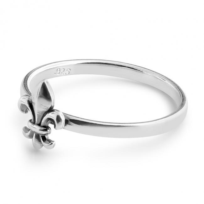 925 sterling silver ring Fleur de Lis