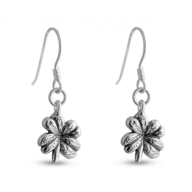 925 sterling silver earrings Four-Leaf Clover