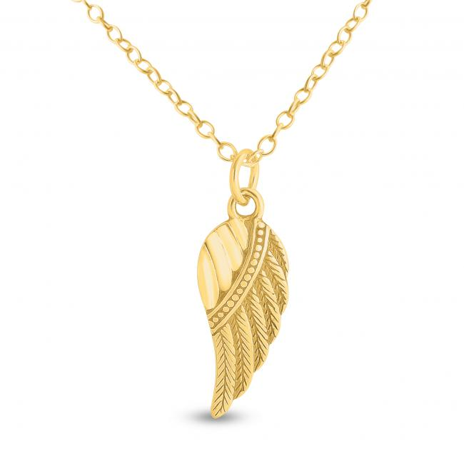 Gold plated necklace Bird Wing