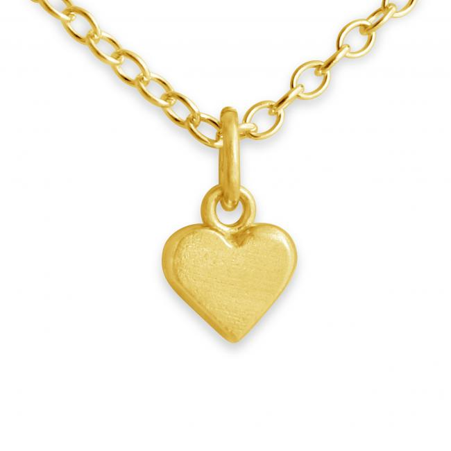 Gold plated necklace Tiny Heart