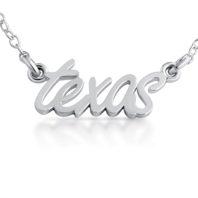 925 sterling silver necklace Texas State