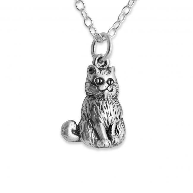925 sterling silver necklace 3D Cheshire Cat of Alice in Wondeland