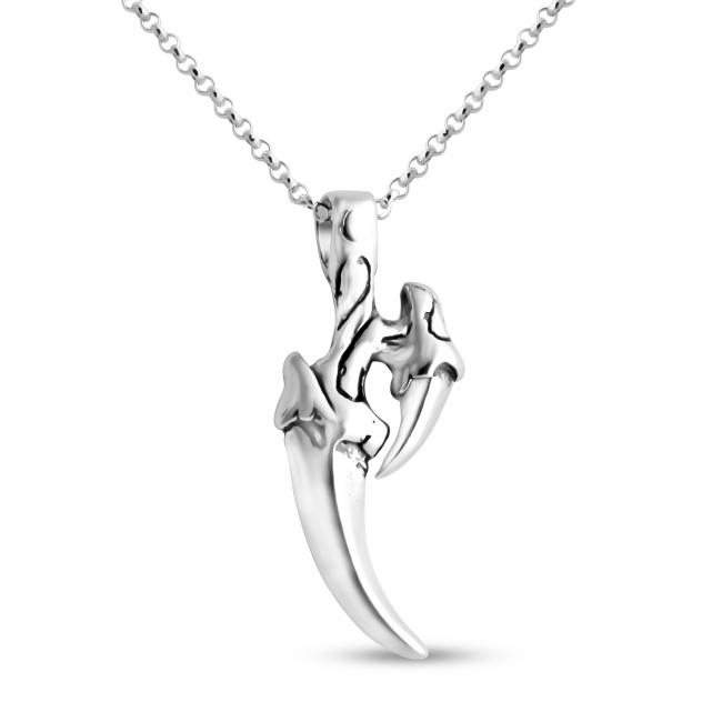 925 sterling silver necklace Predator Tiger Claw
