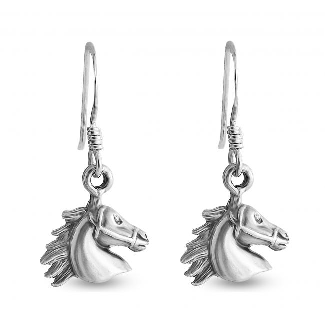 925 sterling silver earrings Horse Head