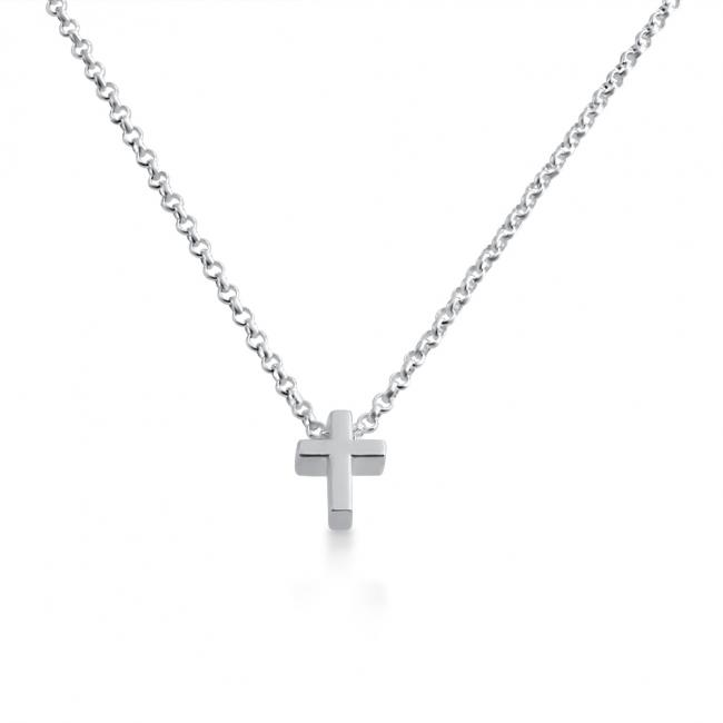 925 sterling silver necklace Initial Letter Cross Personalized Symbols & Letters Serif Font