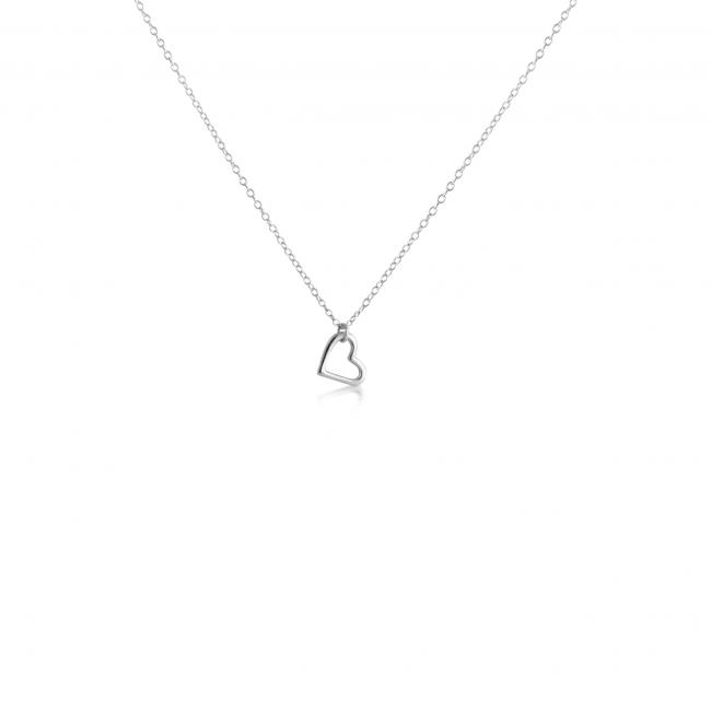 925 sterling silver necklace Hanging Outline Heart