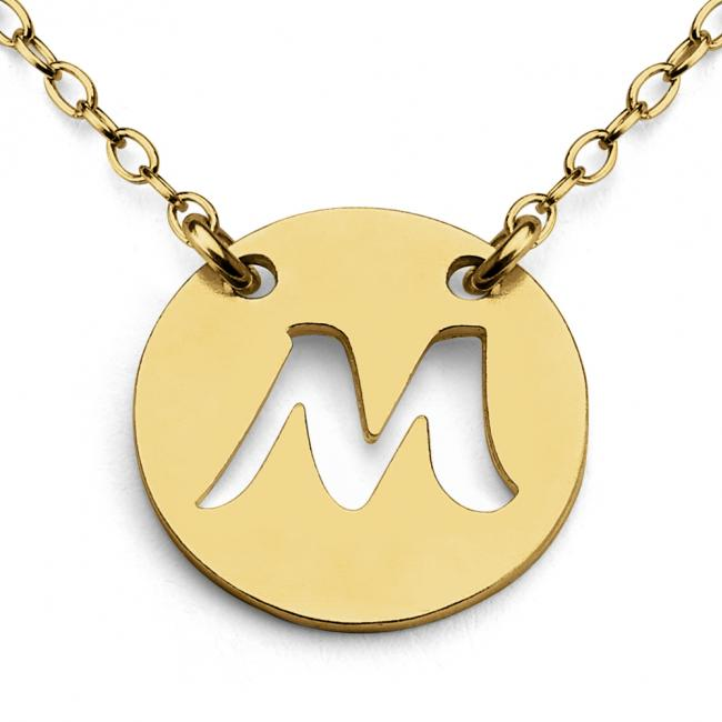 Gold plated necklace M Open Letter