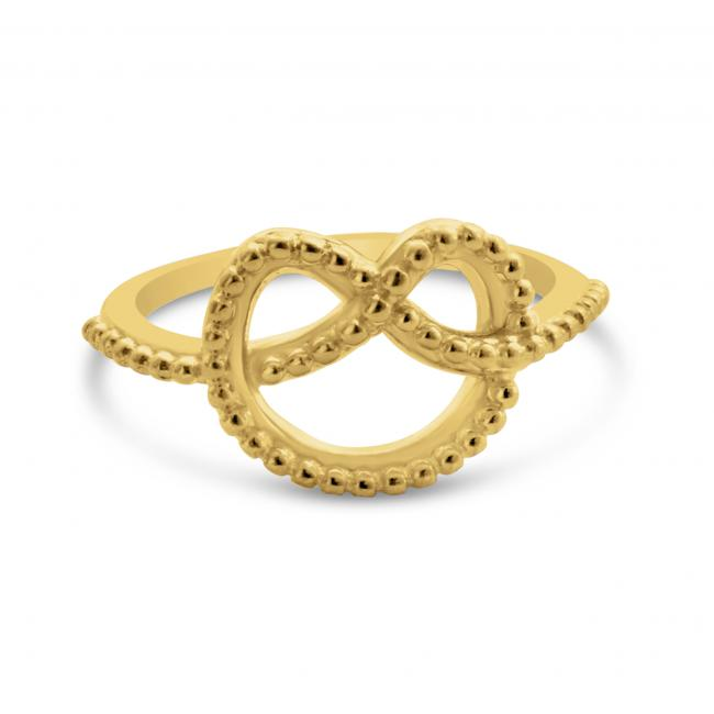 Gold plated ring Love Knot