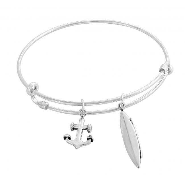 925 sterling silver bracelet Kayaking Adjustable Wire Bangle