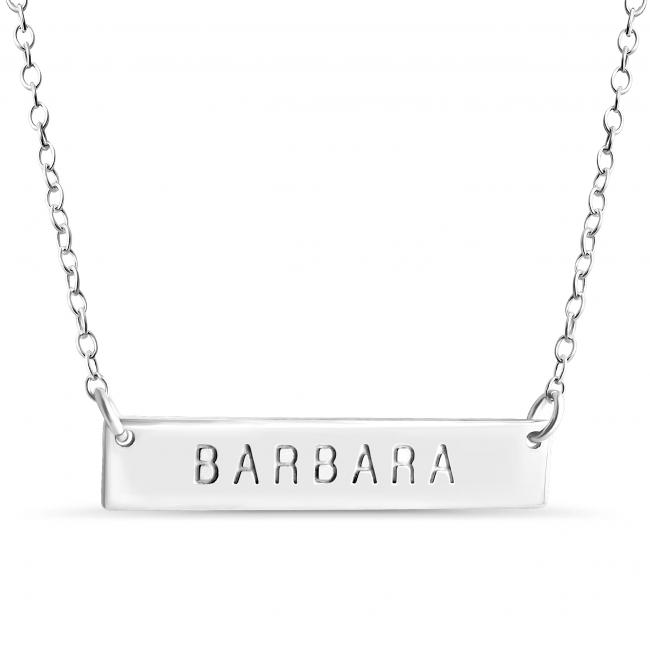925 sterling silver necklace Name Bar Barbara