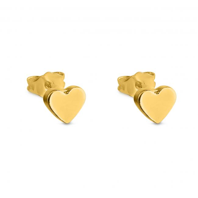 Gold plated earrings Cute Heart