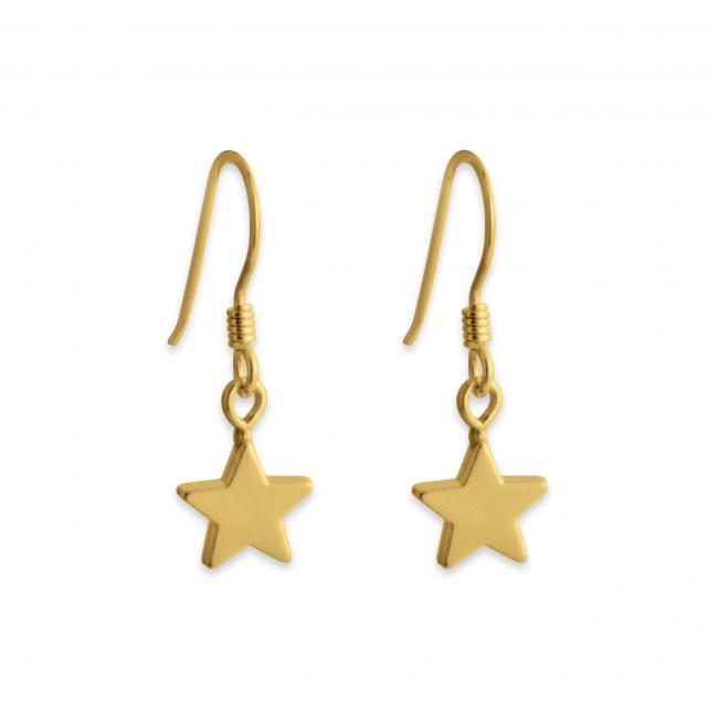 Gold plated earrings Star