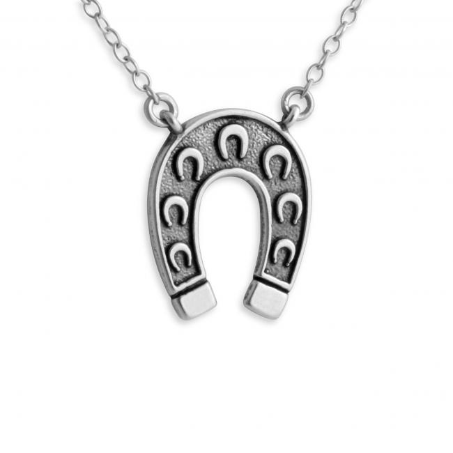 925 sterling silver necklace 2-Toned Horseshoe