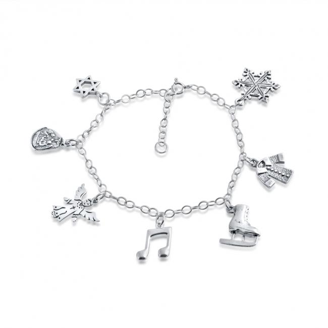 925 sterling silver bracelet Happy Holidays