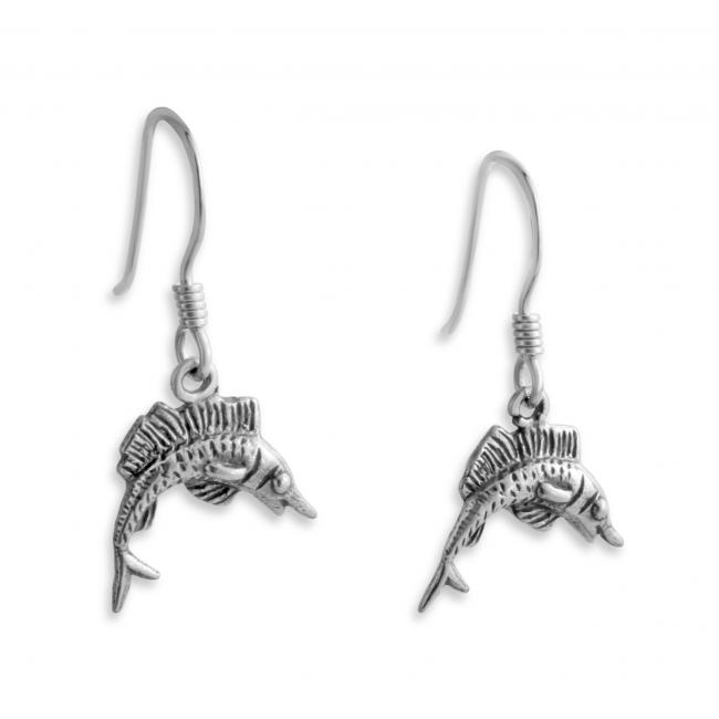 925 sterling silver earrings Marlin