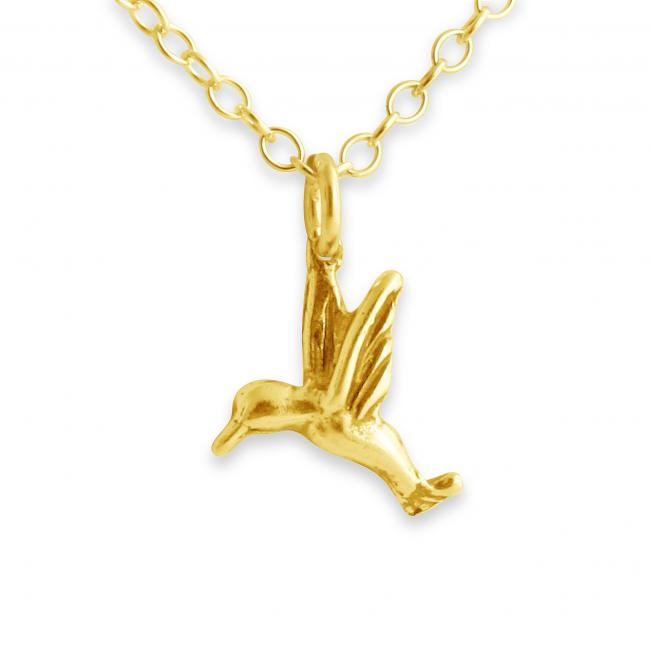 Gold plated necklace Hummingbird