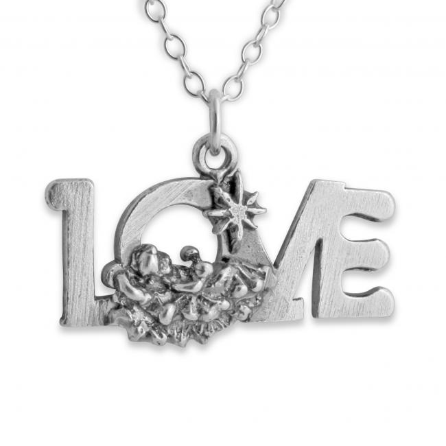 925 sterling silver necklace LOVE Word Romantic