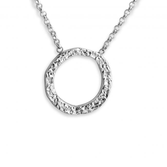 925 sterling silver necklace Karma Circle