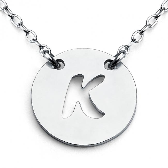 925 sterling silver necklace K Open Letter