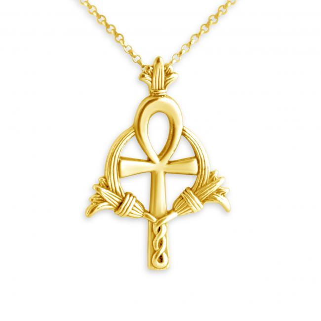 Gold plated necklace Ankh
