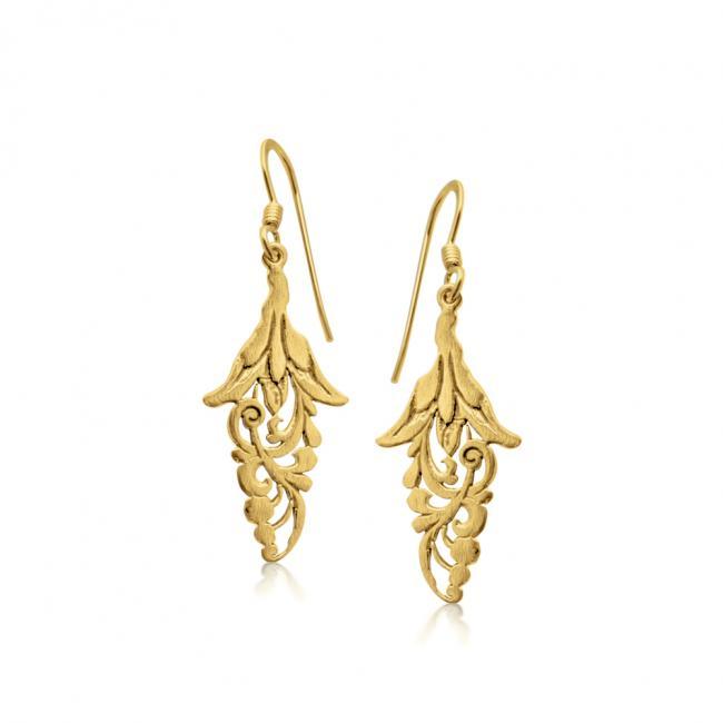 Gold plated earrings Leaf Earrings