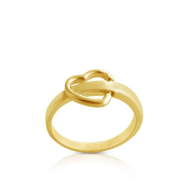 Gold plated ring Flipping Heart