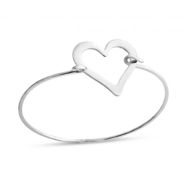 925 sterling silver bracelet Large Heart