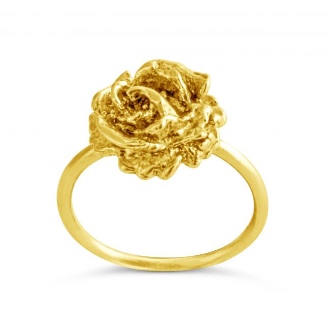 Gold plated ring Vintage Rose
