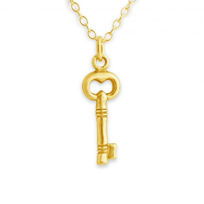 Gold plated necklace Tiny Key