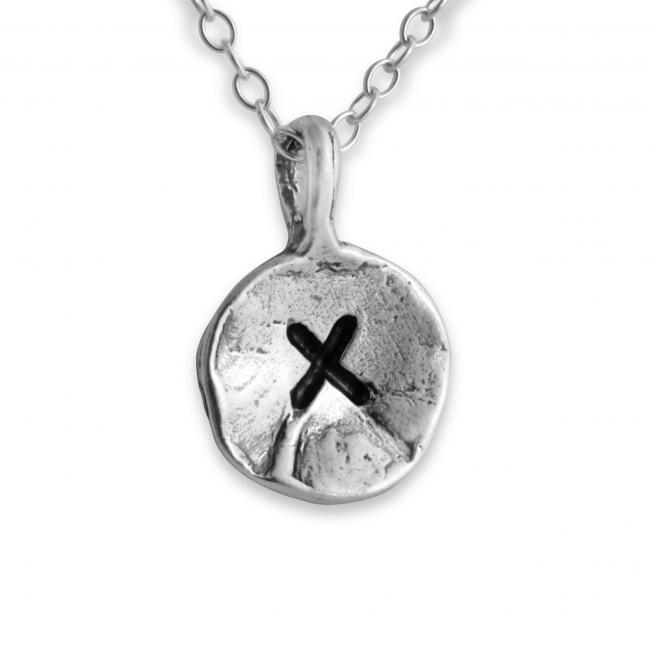 925 sterling silver necklace Letter X Passion Initial