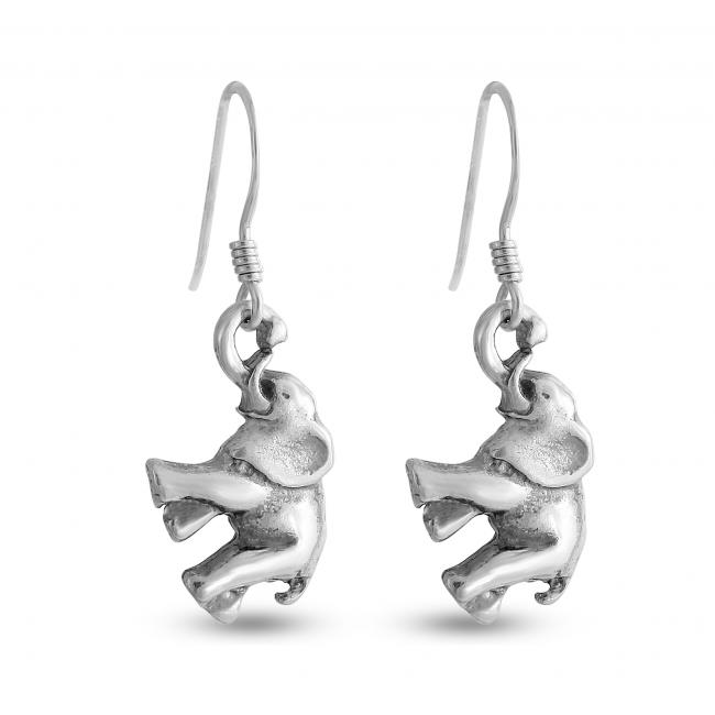 925 sterling silver earrings Elephant